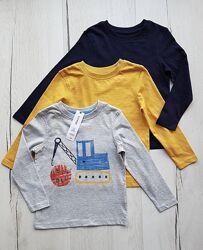 Набор george 18-24 месяца,86-92 см/футболка с длинным/реглан/лонгслив