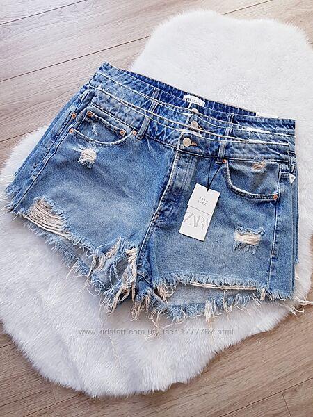 Женские джинсовые рваные шорты больших размеров