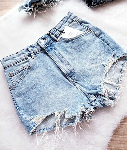 Женские джинсовые шорты с высокой талией