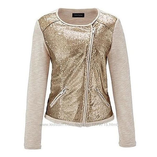 Оригинальный текстильный пиджак- жакет с пайетками от tchibo германия раз