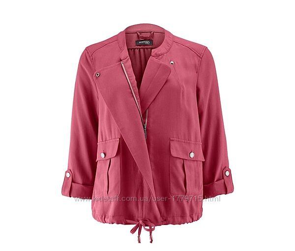 Куртка-вітровка ягідного кольору в стилі casual від tchibo німеччина