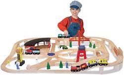 Самая большая деревянная железная дорога от Melissa & Doug