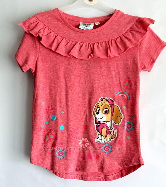 Розовая футболка для девочки щенячий патруль paw patrol