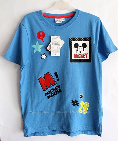Синяя футболка дисней с микки маусом