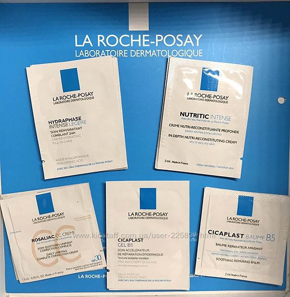 Пробники кремов для увлажнения питания восстановления La Roche-Posay