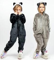Кигуруми для детей и взрослых Енот и Панда