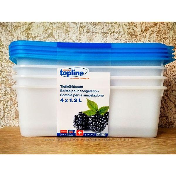 Пищевые, морозильные контейнеры 4 х 1,2 L. Швейцария