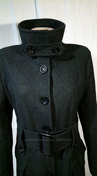 Пальто куртка р 48 бренд Orsay цвет графитовый демисезон широкий пояс ворот