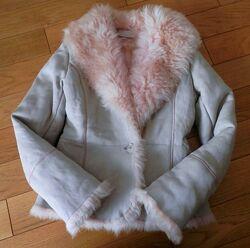 Косуха дублёнка натуральна шуба куртка Італія  Kors Dutti