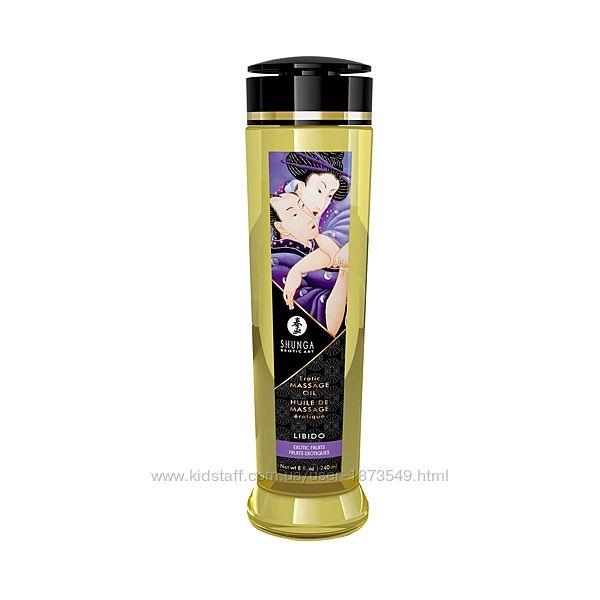 Массажное масло Shunga Libido - Exotic Fruit 240 мл натуральное увлажняющее