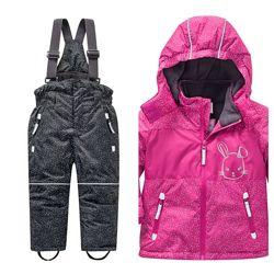 Зимний комплект Полукомбенизон и куртка, на девочку, Новый