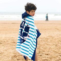 Детское Пляжное Полотенце с Капюшоном Хлопок 76 х127 см от 3-12 лет