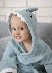 Детский Халат- Детский Банный Халат с Капюшоном Акула
