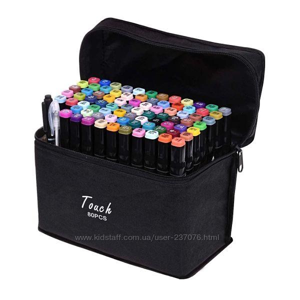 Двухсторонние маркеры с фломастерами Touch наборы 48, 60 и 80 штук