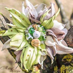 Заколка-цветок ручной работы, под заказ