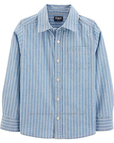 Рубашка в полоску для мальчика 12/14л oshkosh рост 149-151см