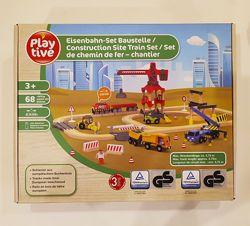 Деревянная железная дорога playtiveСтроительная площадка