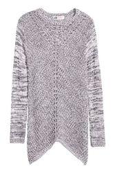 Удлиненный свитер джемпер туника с асимметричным краем