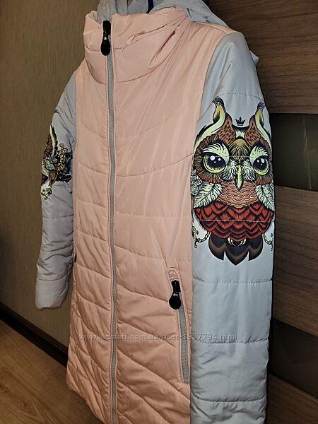 Эксклюзивное демисезонное пальто-трансформер Anernuo, 130-146 см