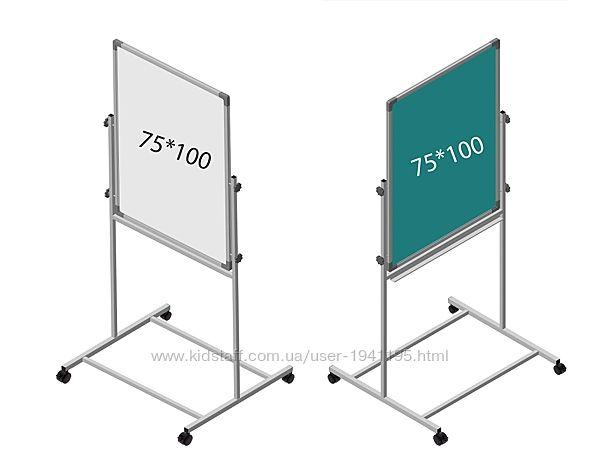 Фліпчарт крейдо-маркерний, магнітний, 2 робочі поверхні