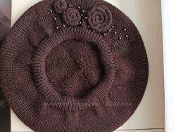 Берет новий, вязаний, жіночий