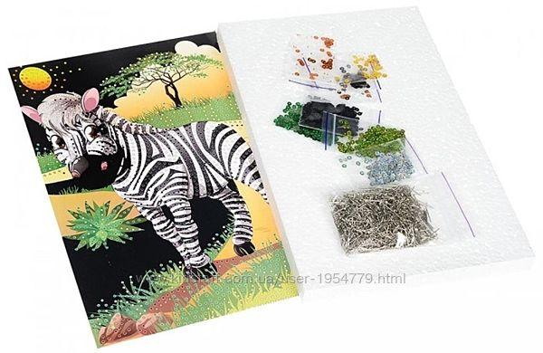 Картина из пайеток Зебра