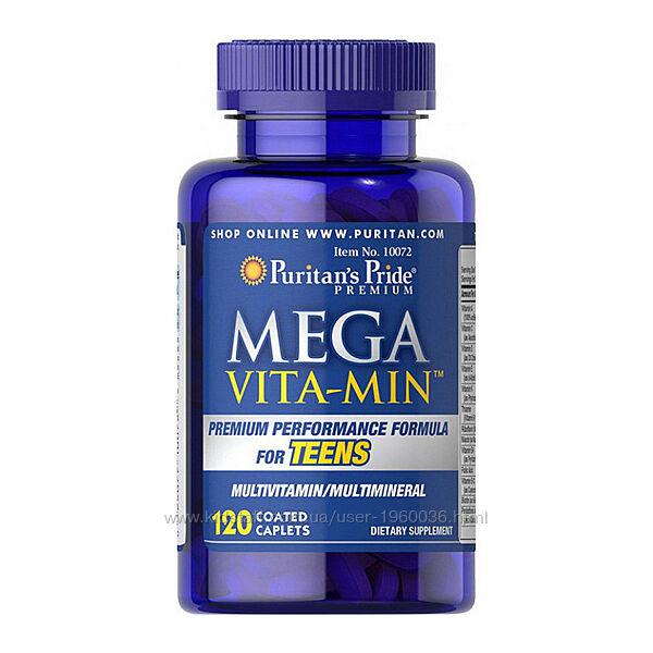 Mega Vita Min мультивитамин для подростков 120 caplets