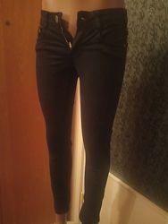 Котоновые черные брюки 25 размер