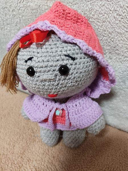 вязаний пупсік лялька