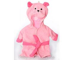 Велюровый халат с капюшоном для куклы Baby Born Беби Борн 43 см