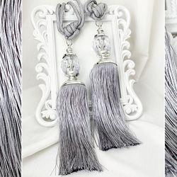 Китиці-підхвати для штор 2шт сірий колір
