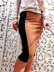 Юбка NEXT S / M карандаш по фигуре облегающая плотная теплая коричневая