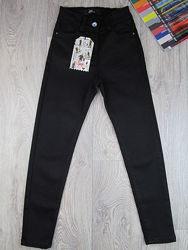 Черные узкие джинсы для девочки 134-164р. Турция.