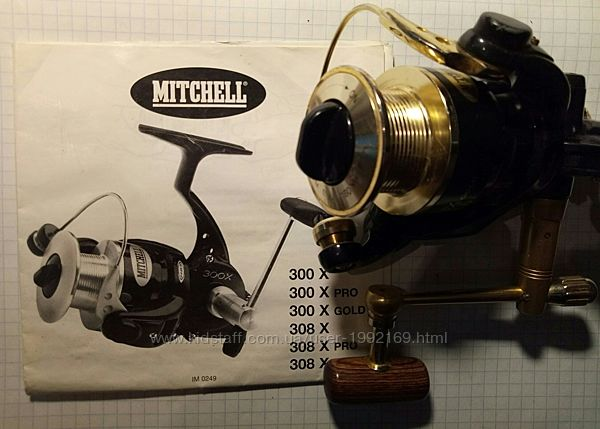 Катушка безынерционная Mitchell 308X Gold, 10 подшипников, Франция