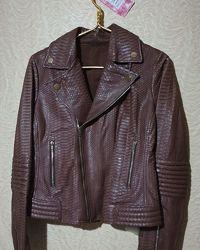 Куртка косуха кожаная кожа питон