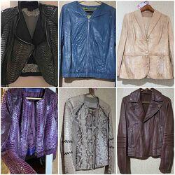 Куртка тренинг пиджак кожа кожаная фирменная питон