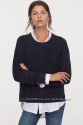 Распродажа НМ хлопок модный джемпер с косами