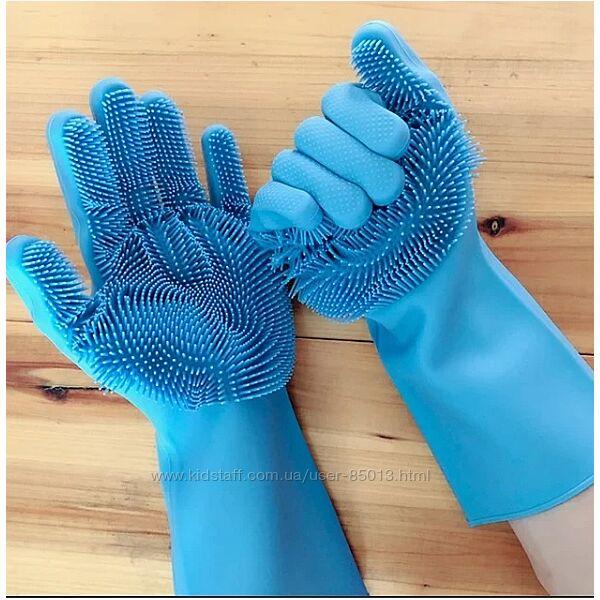 Перчатки силиконовые для мытья посуды