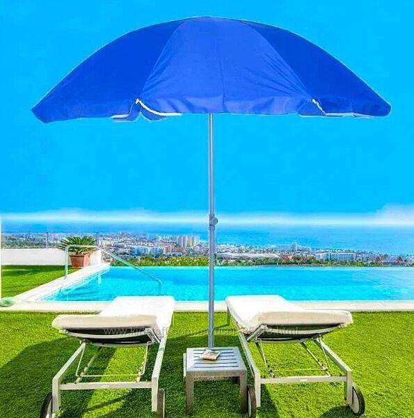 Складной пляжный зонт с телескопической ножкой купол 2 метра