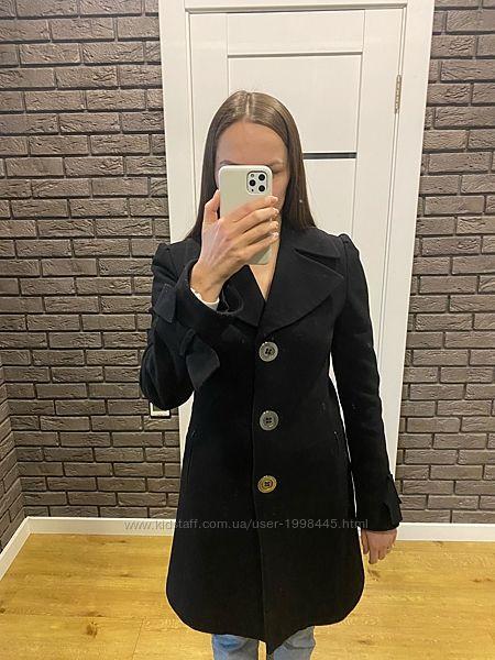 Черное пальто демисезонное VR