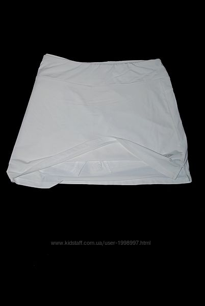 Юбка белая с шортами теннисная pole-dance спортивная nike wilsons head go-g
