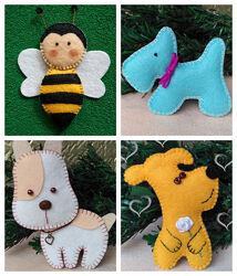 Животные из фетра игрушки