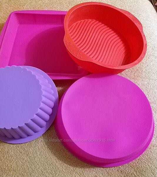Формы силиконовые круглые, квадратные и прямоугольные