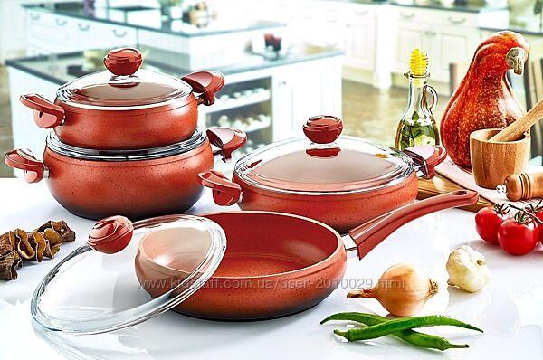 Набор посуды O. M. S Collection Турция  из 7-ми 4/3 предм. арт.3017
