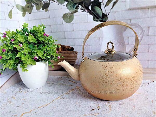 Чайник 3 л  с а/п покрытием, O. M. S. Collection, арт.8212-XL кремовый