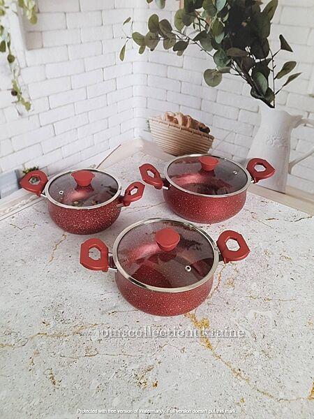 Набор посуды O. M. S. Collection с а/п покрытием из 6-ти 3/3 предм. 3027