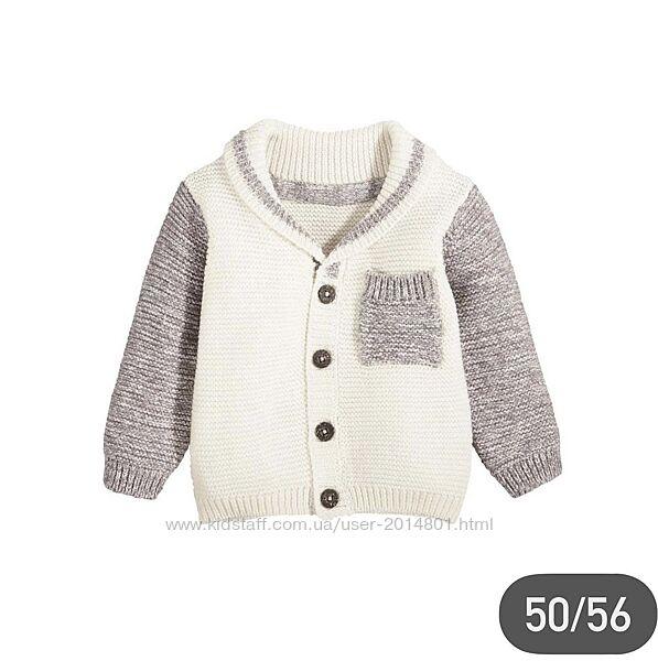 Вязанная кофта для новорождённого 50/56 см lupilu