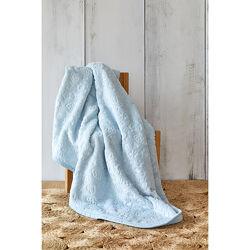 Детский плед нежно-голубого цвета, в подарочной упаковке