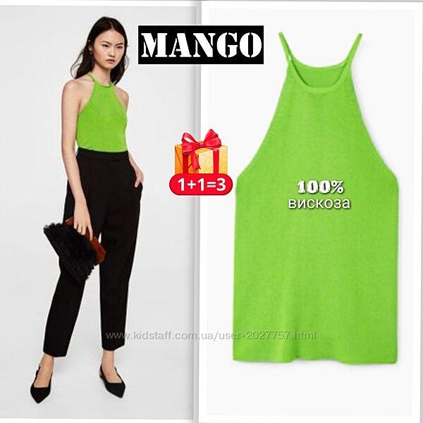 Mango яркая майка - топ  из трикотажной вискозы