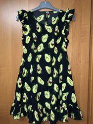 Платье принт авокадо